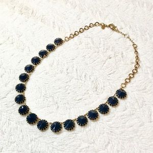 J CREW navy and gold statement necklace